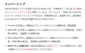 NETFLIXメンバーシップ