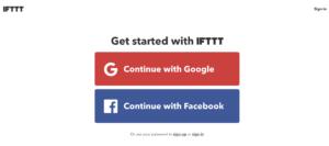 IFTTTトップページ