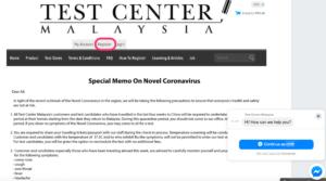 Test center Malaysia